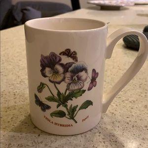Portmeirion pansy mug made in England